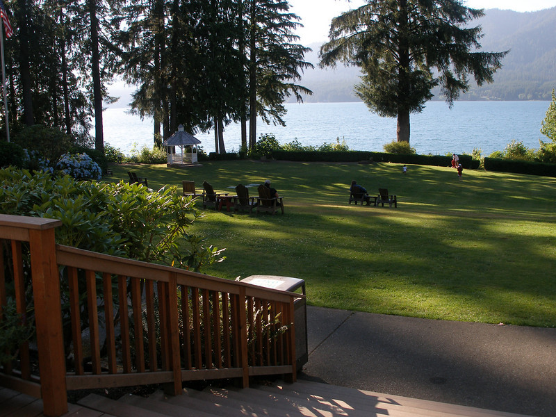 Quinault Lodge Back Yard overlooking Lake Quinault