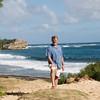 Alan at the private beach at the Grand Hyatt, Lihue, Kauai