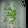 We survey a map of Bora Bora in Raitea airport while we wait for our luggage..