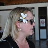 Mel in Papeete airport.
