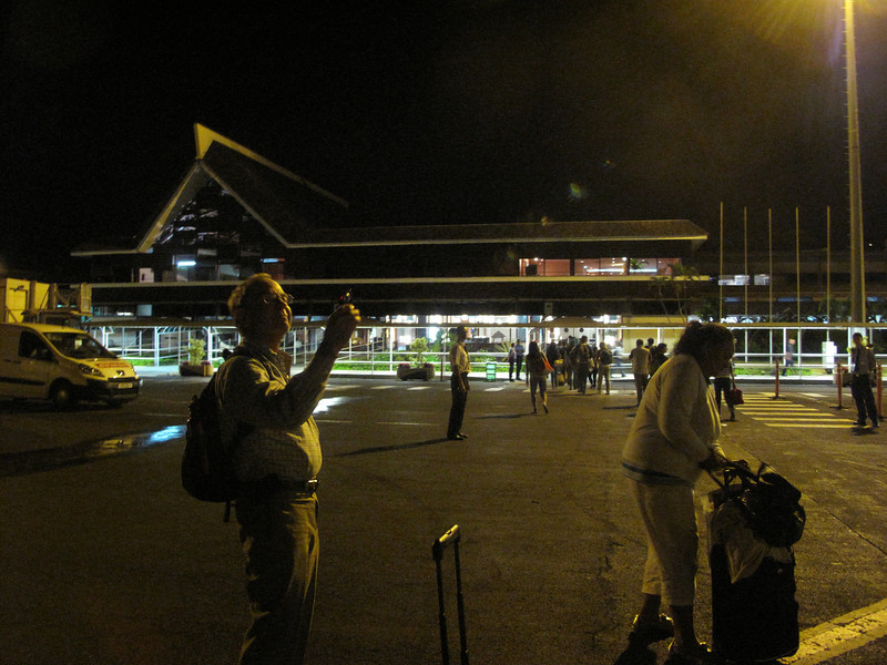 Arriving at the airport in Papeete at around 3 a.m.  Our Tahiti adventure begins.