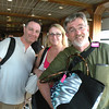 Steve, Mel and Alan in  Papeete airport.