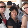 Hibiscus delights in Tahiti.  Mel, Yoshiko and Kim.  Ready to head for Raitea
