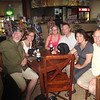 We stop for drinks at a coffee shop in Papeete airport.