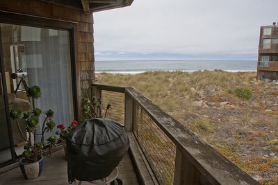 We enjoyed the sound of the surf and the view of the bay from the deck and the windows.  One day we saw a pod of porpoises passing by just beyond the surf line.