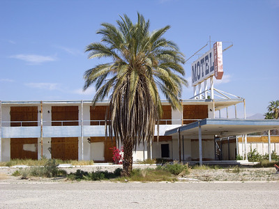 Abandoned hotel at the Salton Sea.