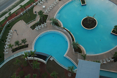 View of pools from 21st floor.