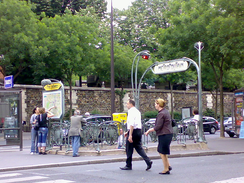 Subway station near Père Lachaise cemetery