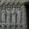 4 Apostels at Notre Dame entrance
