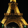 Eiffel tower at night