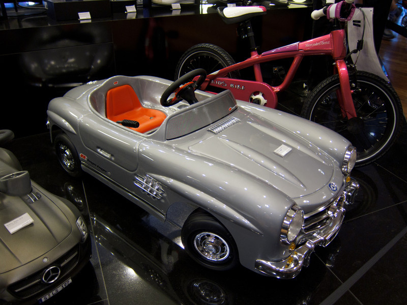 Mercedes peddle car, for the high roller in all of us.