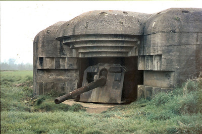 A visit to the Normandy coast saw many old war time relics
