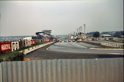 The Le Mans race track. There was a motorcycle race on the short track the day we visited