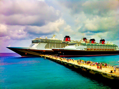 That's what I call a Disney Double Date!  Fantasy and Magic at Cozumel Mexico