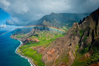 Rainbow to Kalalau Valley Napali Coast State Park