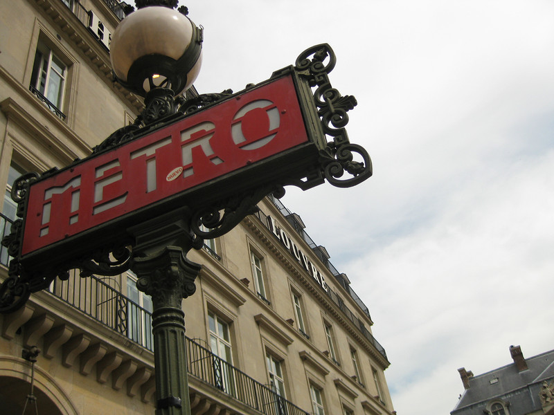 Metro, subway station, at the Louvre