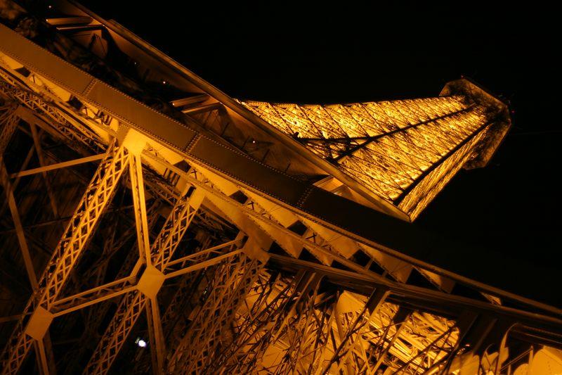 Below the Eiffel Tower.