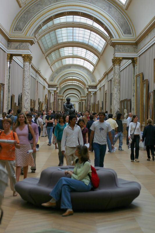 Gallery of Italian paintings at the Louvre.