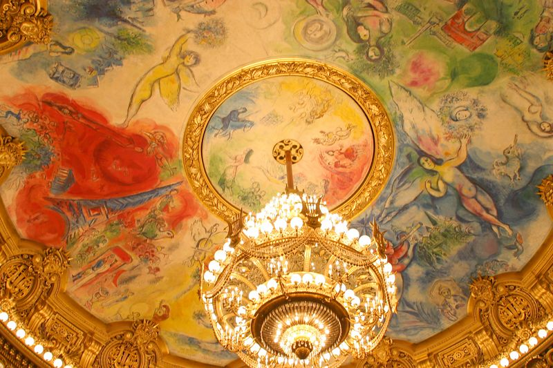 Ceiling of the Garnier theatre