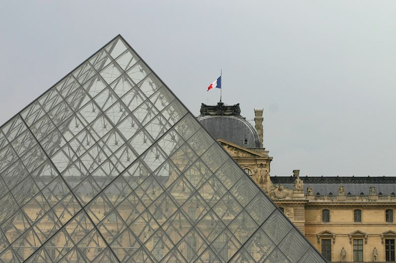 Pyramid at the Louvre.  Every time Jamie sees this one she hums the French national anthem.