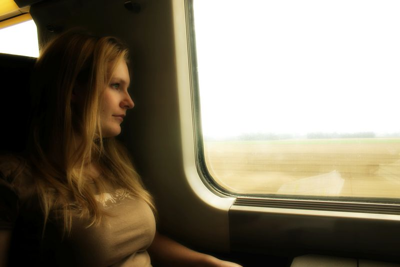 Jamie on Eurostar train back to London