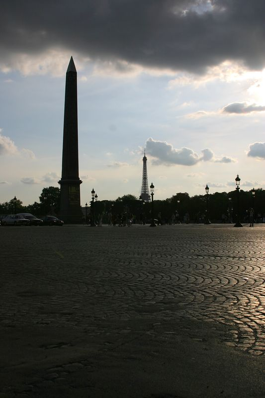 Obelisk & Eiffel Tower