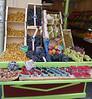 Fruit Stand in St Germaine des Praix.  Paris, France