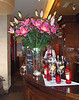 Flowers at Rosseau Restaurant in Paris, France