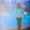 Rebecca  by steamy pool at Deer Valley.