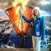 Rebecca with Olympic Torch, Utah Olympic Park, Park City.