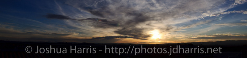 Sunset from Eos Estate in Paso Robles, CA