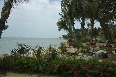 The view from our hotel beach.  We stayed at La Rasa, a wonderful resort on the Northern side of Pinang.