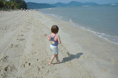 Reach the beach.