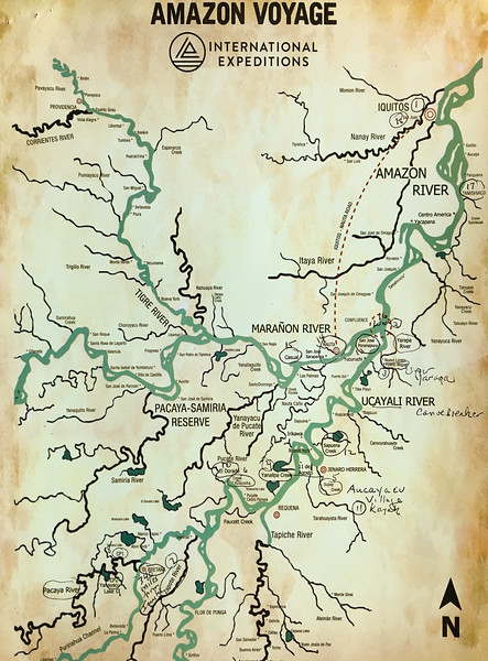 Amazon River Cruise Map