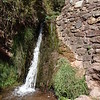 Waterfall along the Urquillos Inca Trail