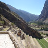 Looking down from the top of Ollantaytambo