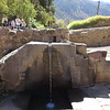 An aqueduct running through the bottom of Ollantaytambo. The Inca had a strong aesthetic sense, you see these gorgeous fountains often