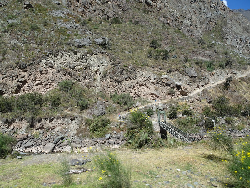 km 82, start of the Inca Trail to Machu Picchu