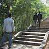 Some of the 419 steps leading up to the stupa of Udong. Cambodia