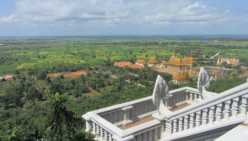 View from the Udong temple; Cambodia