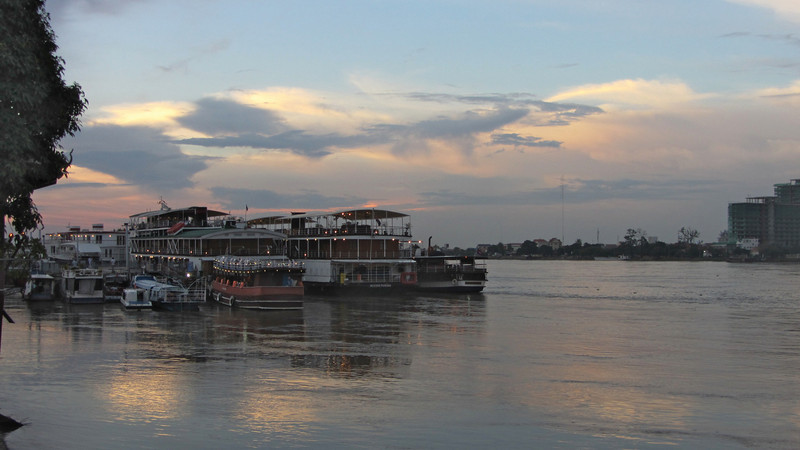 Tour Boats on the Tonle Sap, Phnom Penh