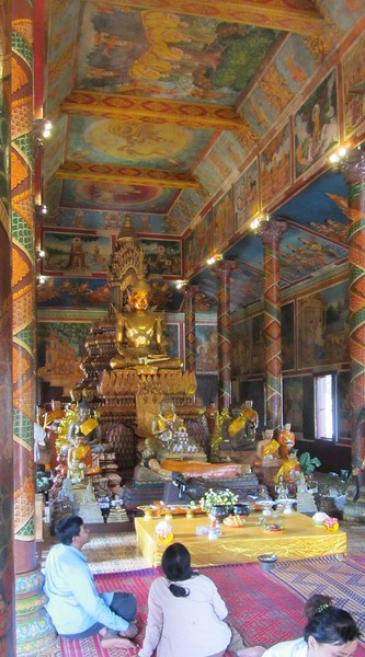 Inside the Wat Phnom,  Phmon  Penh, Cambodia