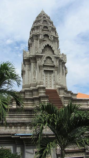 A Stupa in the Wat Ounalom,  Phnom Penh
