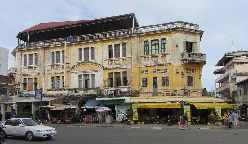 An old colonial building in Phnom Penh.