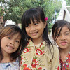 Cambodian kids at the Wat Phnom, Phnom  Penh, Cambodia