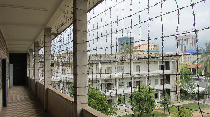 View from the 3rd floor of the Tuol Sleng Museum