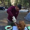 Pinecrest - Bob carving turkey