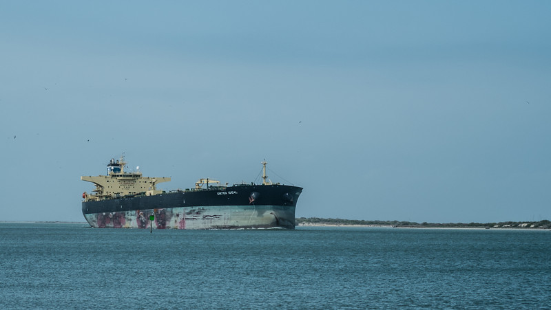 Tanker in the channel coming from Corpus Christi