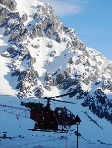 Helicopter skiing and/or sightseeing is available..... maybe next time!