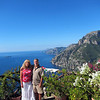 A picture of my bride of 25 years as our anniversary was on 9/12/12. This view was taken from the breakfast deck. In the very back above my head is the island of Capri